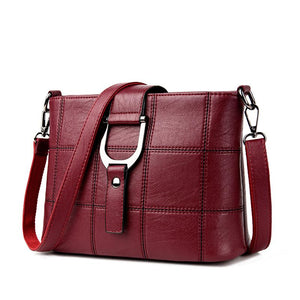 Plaid Leather Designer Cross Body Shoulder Handbag