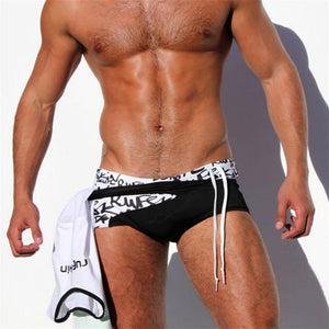 Sexy Men Low Waist Belt Swimwear Shorts Swim Trunks Verkadi.com