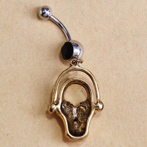 Skull Bone Navel Piercing Belly Button Ring Verkadi.com