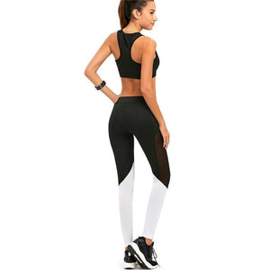 Patchwork Sportswear Fitness Yoga Set