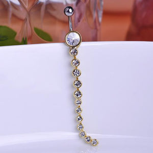 Long Drop Rhinestone Gothic Belly Button Ring Verkadi.com
