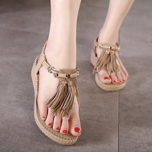 Gladiator Tassel  Flat Comfortable Summer Sandals