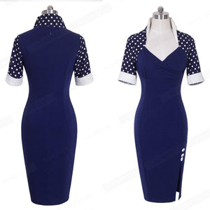 Vintage Bodycon Split Tunic Work Dress Verkadi.com