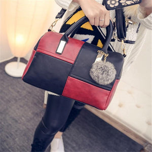 Shoulder Geometric Pattern Boston Style Handbag