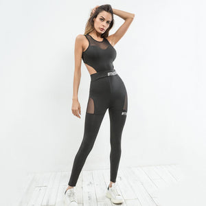 Hollow Out Waist Women Sportswear Yoga Set