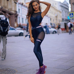 Sexy Mesh Women Fitness Active Wear Yoga Set Verkadi.com