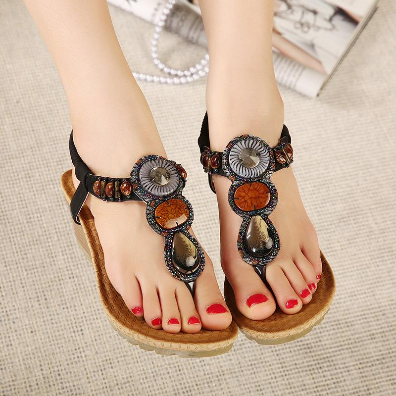 Summer Bohemia Platform Wedges Sandals