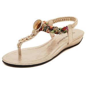 Hot Comfortable Rhinestone Casual Flat Sandals Verkadi.com