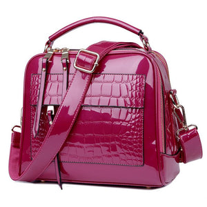 Leather Crocodile Skin Style Fashion Tote Bag Verkadi.com