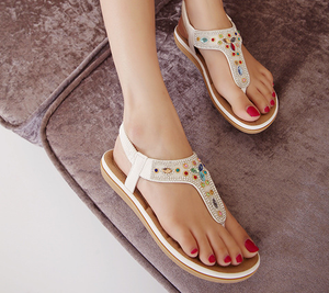 Style Bohemia Beaded Trendy Open Toe Sandals