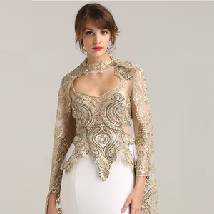 Gold Appliques Beaded Event Party Evening Dress