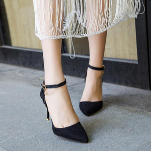 Snakeskin Pointed Toe Pump Shoes