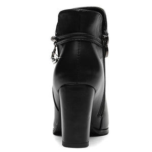 Ankle Super Designer Thick Chunky Heels Boots