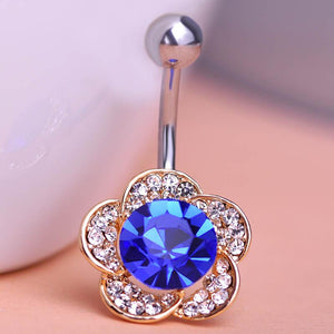 Flowery Navel Piercing Belly Button Ring