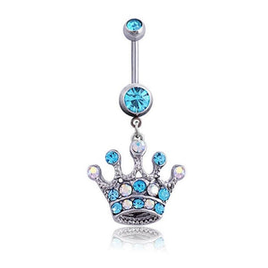 Crown Navel Piercing Belly Button Ring