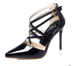 Sexy High Heels Pointed Toe Strapping Elegant Pumps