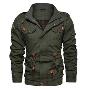 Hooded Cotton Military Style Men's Winter Jacket