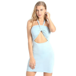 Split Cross Sexy Slim Fit Beach Casual Dress