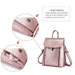 Split Leather Waterproof Travel Handbag