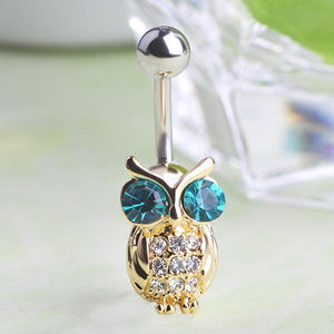 Cute Owl Navel Piercing Belly Button Ring Verkadi.com
