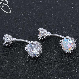 Bright Crystal Gem Ball Navel Piercing Belly Button Ring