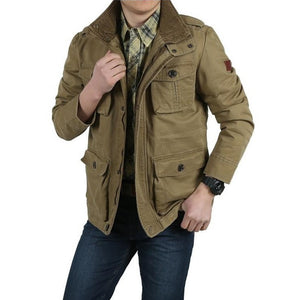 Smart Multi-Pockets Military Style Men Cotton Jacket