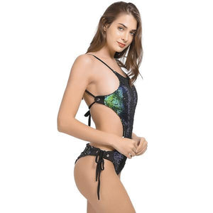 Sexy Bandage Push Up One Piece Swimwear Swimsuit verkadi.com