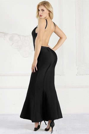 Backless Bandage Mermaid Party Maxi Dress