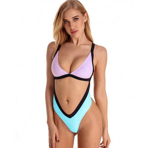 Sexy Tummy Cut Out High Leg Cut Swimwear Swimsuit Verkadi.com