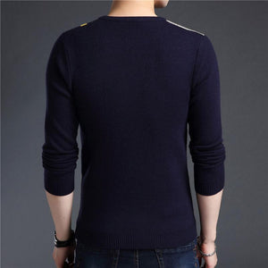 Cashmere Cotton Wool Casual O-Neck Pullover