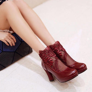 Style Lace Pumps Shoes