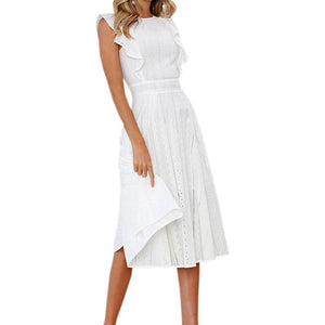 Sleeveless Casual Midi Dress