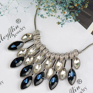 Statement Crystal Choker Style Necklace Pendant