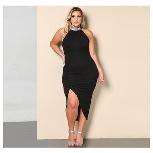 Sleeveless Bodycon Plus Size Dress