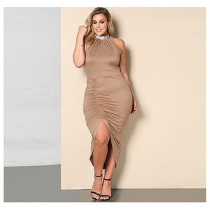 Neck Sleeveless Bodycon