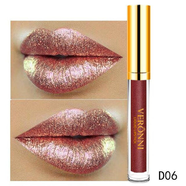 Lip Gloss 6ml Long Lasting Waterproof Magic Glitter Flip Lipstick Flip Pull Matte Pearl Lip Gloss
