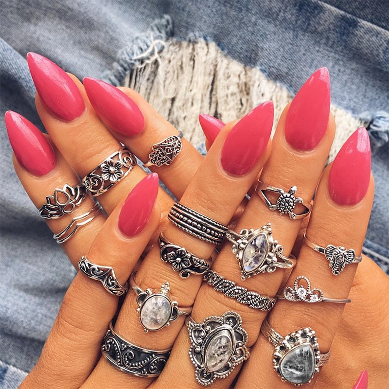 16 Pcs/set Women Fashion  Ring Jewelry