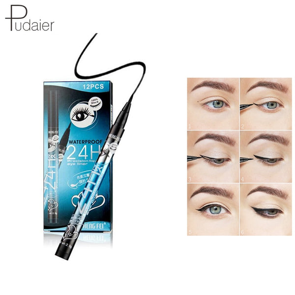 2 PCS Liquid Eyeliner Pencil Waterproof Long-lasting Eye Liner Pen Nice Makeup Beauty