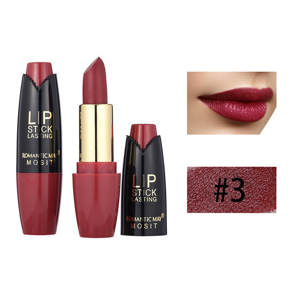 New Fashion Beauty Lipstick Natural Waterproof Long Lasting Matte Lip Cosmetic Beauty Makeup For All Skin Types