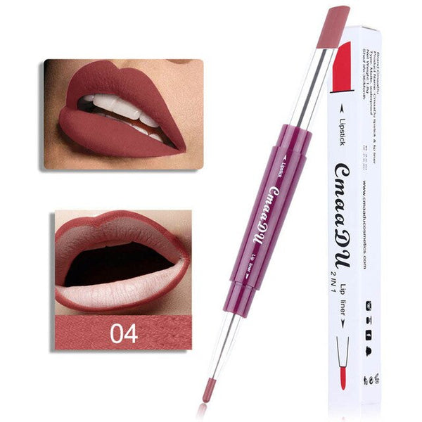 New Fashion Lip Liner Double-end Long Lasting Lip-liner Waterproof Lip Liner Stick Pencil 6 Color Beauty