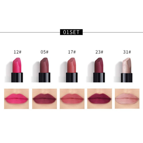 New Fashion 5PCS New Fashion Waterproof Matte Lipstick Cosmetic Sexy Lip Gloss