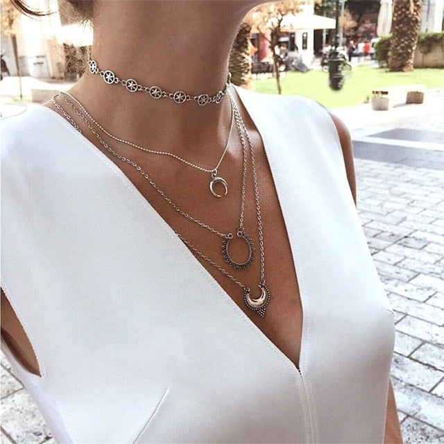 4 Pcs/ Set Necklace Women