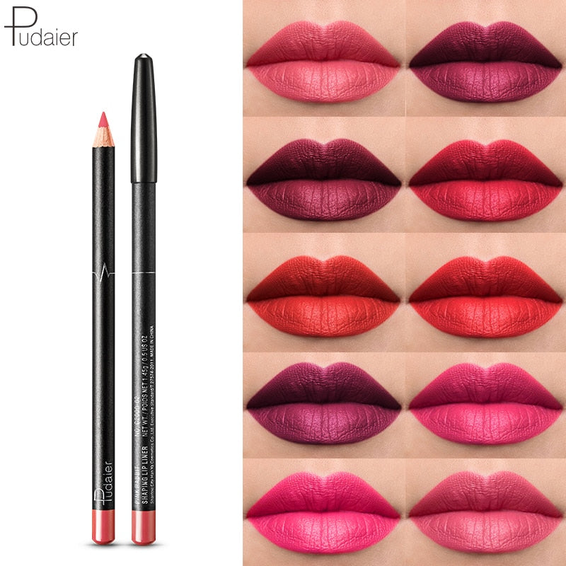 HOT 6PCs/set 36 Colors Nude lip liner Matte Lip liner Pencil Waterproof
