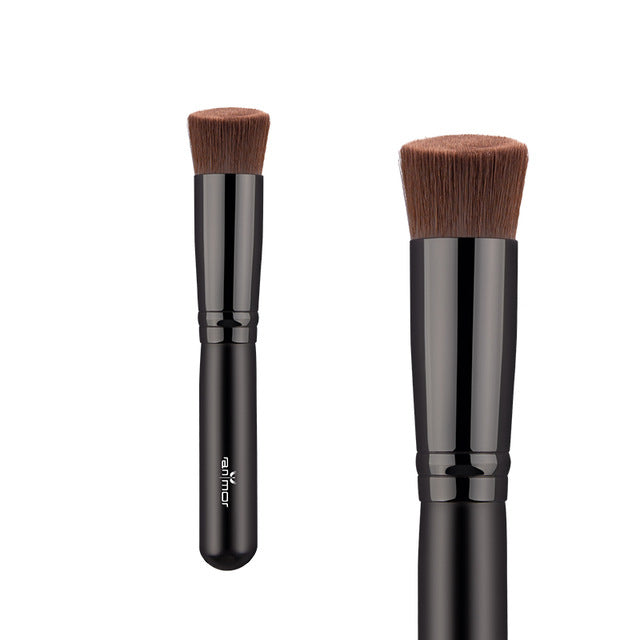 1 Pieces Foundation Brush Short Handle Makeup Brushes Synthetic Angled Make Up Brushes