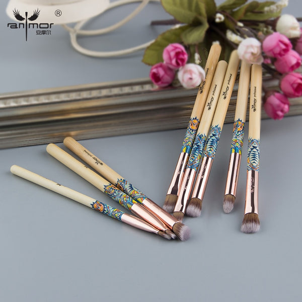 High Quality 8PCS Bamboo Makeup Brush Set Brushes Professional