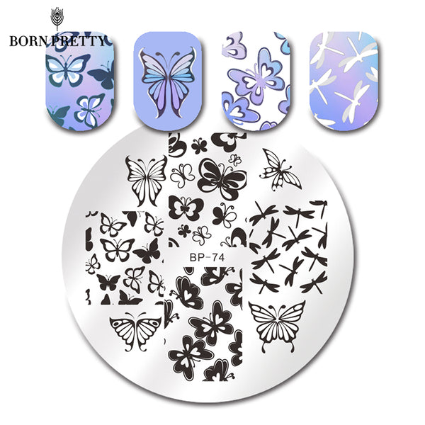 BORN PRETTY Various Butterfly Nail Art Stamping Template Image Plate BP74