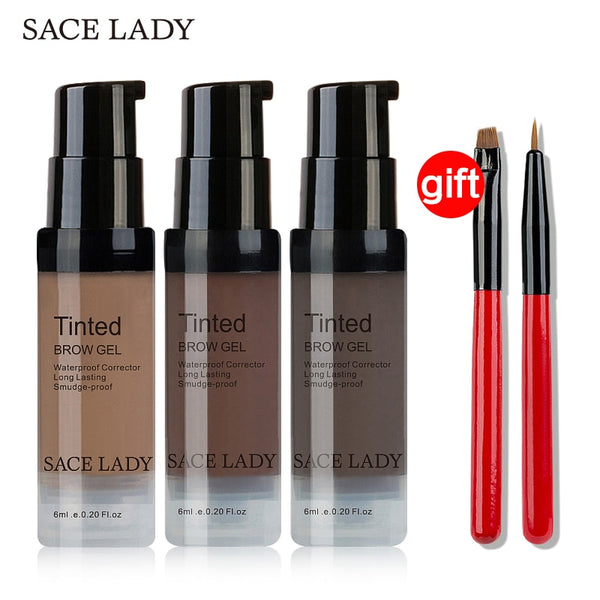 Buy 3 Get 1 Gift SACE LADY Eyebrow Tint Set Waterproof Henna Makeup Gel Brush Eye Brow Cream Kit Make Up Paint Enhancer Cosmetic