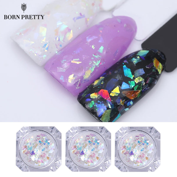 Candy Glass Paper Nail Flakies 1g Holograplic Irregular Colorful Sequins Paillette Manicure Nail Art Decoration
