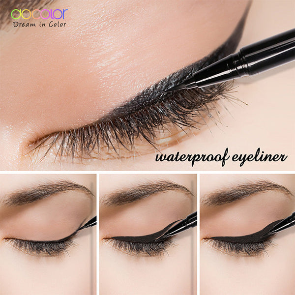 Docolor 1PCS Beauty  Black/ Brown Long-lasting Waterproof  Eyeliner Eye Liner Pen Pencil Makeup Cosmetic Tool