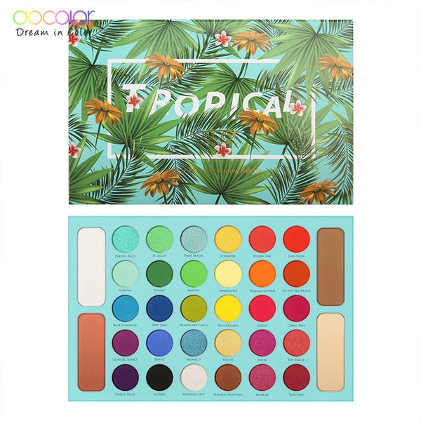 Docolor Professional Eyeshadow Palette 34 Color Charming Eye shadow Palette Waterproof Shimmer Glitter Nude Make Up Palette Kit